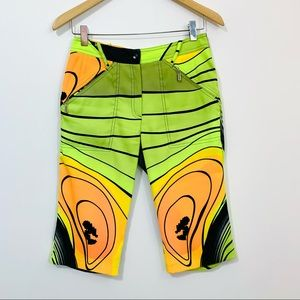 Jamie Sadock Neon Yellow Abstract Golf Shorts